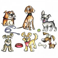 Tim Holtz Crazy Dogs Cling Stamps Stampers Anonymous CMS271 scrapbook craft