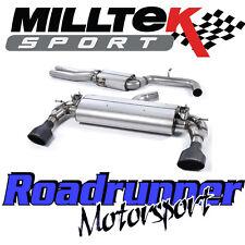 "Milltek SSXAU590 Audi RS3 8v Exhaust System 3"" Cat Back Resonated Black Ovals"