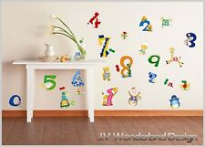Animals Numbers Wall Deco Vinyl Sticker DIY Removable Art Mural Kids Baby Learn