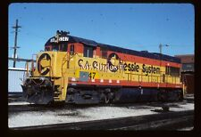 Original Slide C&O Chessie System  U30B 5347 In 1987 At Riverdale IL