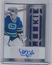 11-12 2011-12 CERTIFIED EDDIE LACK AUTOGRAPH JERSEY ROOKIE AUTO RC /299 CANUCKS
