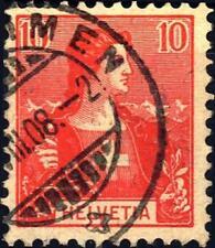 """SVIZZERA - 1907 - Guglielmo Tell e """"Helvetia"""" - 10 c. rosa"""