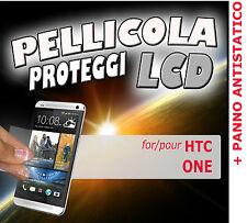 Pellicola protezione DISPLAY 100% LUMINOSO LCD per htc one  PANNO ANTISTATICO