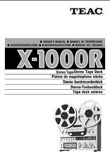 TEAC X-1000R OWNERS MANUAL ON CD-R