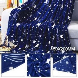 Fleece Blanket Large Star Soft Bed Warm Sofa Fur Throw Blanket Double King Size