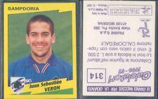 FIGURINA CALCIATORI PANINI 1996/97-SAMPDORIA,VERON-N.314-NUOVA CON VELINA