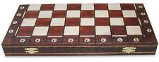Schach Edles Schachspiel aus Holz Schachbrett 54 x 54 cm Handarbeit