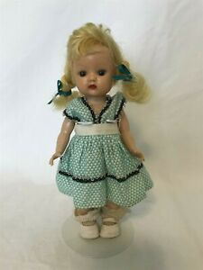 Muffie Straight Leg Walker doll 1955 Storybook Dolls of California pigtails
