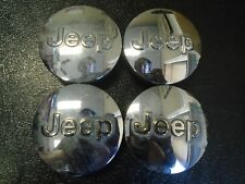 "Jeep Button Center Cap Hubcaps OEM Set of 4 P/N 1LB77TRMAB  2 1/2"""