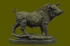 Handgefertigte Messingskulptur Angebot Ma Deko Kunst Schwein Wildschwein Wild