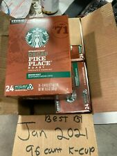 96 Starbucks Pike Place Decaf Coffee K-Cups Best By 01/2021 see des. for flavors
