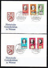 Germany DDR 1973 FDC covers Mi 1856-1861 Sc 1471-1476 Famous Germans