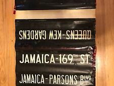 1950s New York Subway Sign R9 Side Destination Rollsign Manhattan, Bronx, Queens