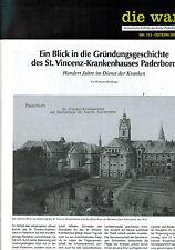 Multhaupt, Gründungsgeschichte St. Vincenz Krankenhaus Warte 113, Paderborn 2002