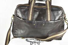 MCM Schultertasche Leder Tasche Bag Ledertasche Aktentasche Messenger Tasche