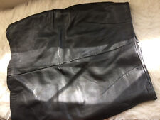 80s Vintage Black Leather High Waist Pencil Skirt Michael Hoban North Beach