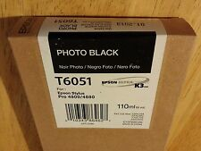 04-2014 NIB GENUINE EPSON T6051 PHOTO BLACK K3 INK 110ml STYLUS PRO 4800 4880