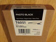 04-2014 NIB GENUINE EPSON T6051 PHOTO BLACK K3 INK 110ml STYLUS PRO 4800 4880