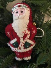 Addobbo albero di Natale Babbo Natale in pannolenci