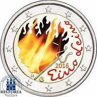 Finnland 2 Euro Münze Eino Leino 2016 prägefrisch Gedenkmünze in Farbe