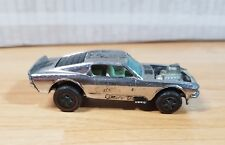 Vintage Hot Wheels Redline 1969 Mustang Boss Hoss _ Chrome _ Black ! 1/64 Loose