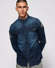 Superdry Mens Dragway Patch Denim Shirt