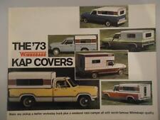 Vtg 1973 73 Winnebago Kap Covers Campers Motorhome RV Dealer Brochure Advertisng