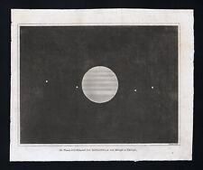 1809 Astronomy Print Jupiter & Satellites or Moons Solar System Planet Telescope