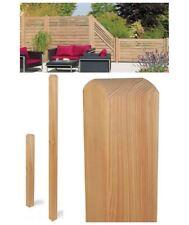 Pfosten Lärche, 9 x 9 x 100 cm, 4-kant Holzpfosten, Zaunpfosten aus Lärchenholz