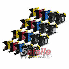 KIT 20 CARTUCCE COMPATIBILI PER BROTHER MFC J430W J625DW J825DW LC1220