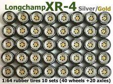 1/64 rubber tire Longchamp XR-4 rim fit Hot Wheels Chevrolet diecast - 10 sets