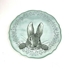 Pottery Barn Kids Peter Rabbit Plate Beatrix Potter Circle Plastic Circle Blue
