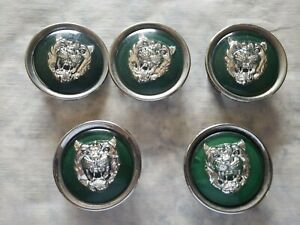 JAGUAR XJ8 XJ8L XJS XJ6 XK8 Green 2000 2001 2002 2003  5 PC WHEEL CENTER CAPS