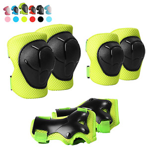 Toddler Knee Pads and Elbow Pads Set with Wrist Guard 6 In 1 Protective Gear Set
