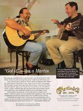 1999 PRINT AD FOR Martin GUITARS SKIP & MARK GARDINER
