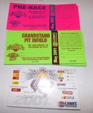 (60) Unused 2001 Coca-Cola 600 NASCAR TICKETS & PASSES Incl Bruton Smith Condo