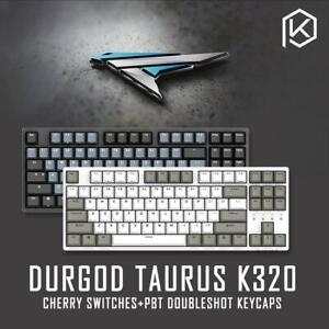 DURGOD 87 TAURUS K320 MECHANICAL KEYBOARD CHERRY MX SWITCHES PBT GREY CASE