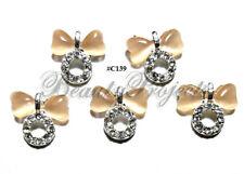 5pc Nail Art Charms 3D Nail Rhinestones Decoration Jewelry DIY Bling - C139
