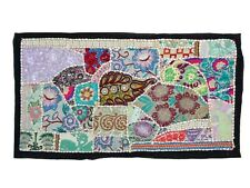 Wall art Antique Handmade Embroidered Patchwork Vintage Hanging home decor