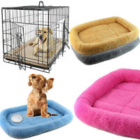 Pet Puppy Dog Cat Cushion Blanket Bed House Crate Cozy Soft Warm Sleep Mat S/M/L