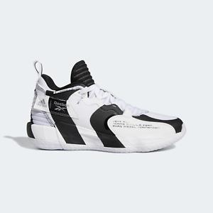 [H00427] Adidas DAME 7 EXTPLY Men's Basketball Sneaker Shoes White/Black *NEW*
