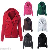 Women's Hooded Sweatshirts Long SleeveJacket Ladies Hoodies Blazer Zipper Coat