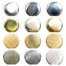 Metal Blazer Buttons in Gold and Silver - 3 sizes - 2 Finishes - Free UK Postage