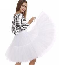 Girls Adult Tulle Skirt Fluffy Petticoat Women Tutu Dress Dance Ballet Costume