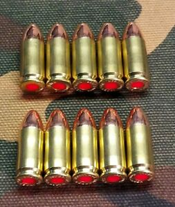 9MM SNAP CAPS  SET OF 10 (BRASS+FMJ) REAL WEIGHT!!!