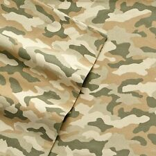 NWT $100 CUDDL DUDS QUEEN FLANNEL CAMO CAMOUFLAGE SHEET SET