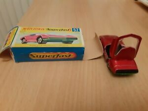 Vintage Matchbox Lesney Superfast no 52 Dodge Charger Boxed, MINT CONDITION.