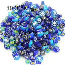 100Pcs Venice hand fusible Blue glass beads Mosaic Tiles charms 100g/Pack
