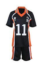 Haikyuu!! Karasuno High School Uniform Jersey No.11 Kei Tsukishima Shierts Cos