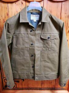 Filson Tin Cloth Short Lined Cruiser Jacke GR.L Neuwertig NP:495€ Gewachst